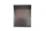 Caja para proteger de la lluvia a placa metalica pequeña