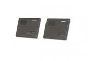 Set (juego) de 2 intercomunicadores con cable